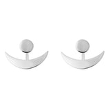 Horn Double Earrings<br>Silver