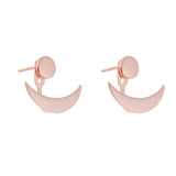 Horn Double Earrings<br>Pink Gold Plated