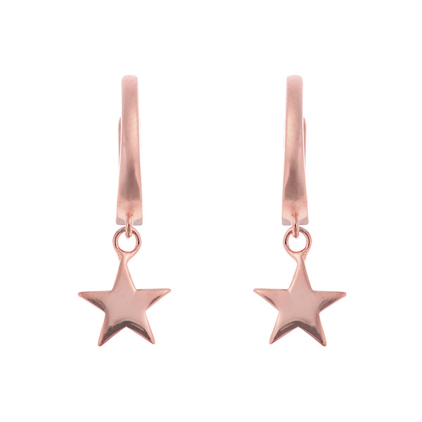 Little Star Huggies <br> Pink Gold Plated