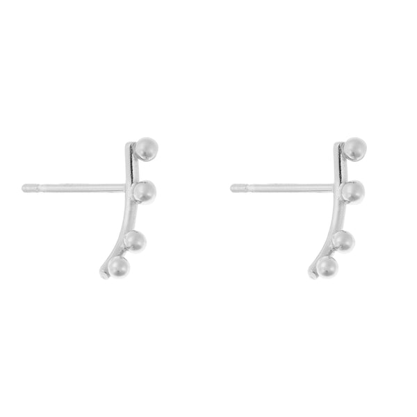 Element Earrings<br>Silver