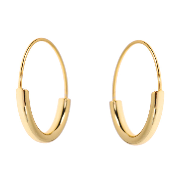 Duo Hoops <br>Gold Plated