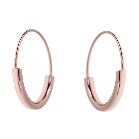 Duo Hoops <br>Pink Gold Plated