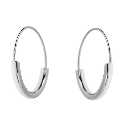 Duo Hoops <br>Silver