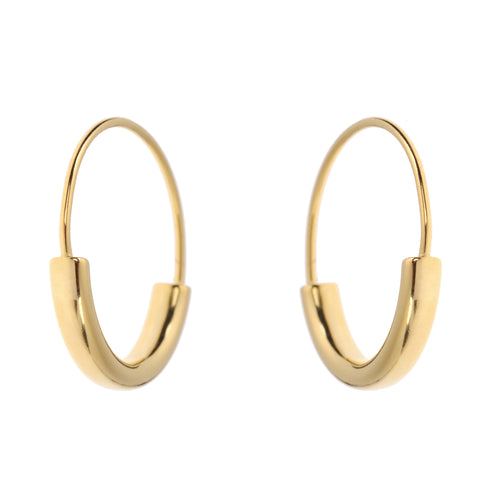 Duo Hoops L<br> Gold Plated