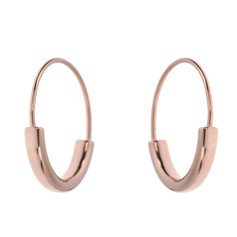 Duo Hoops L<br>Pink Gold Plated