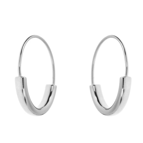 Duo Hoops L<br>Silver