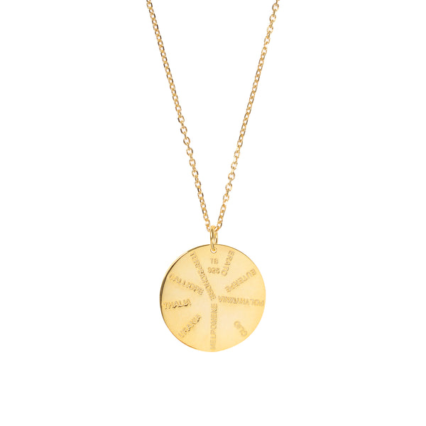 9 Muses Necklace <br> Gold Plated