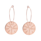 9 Muses Earrings <br> Pink Gold Plated