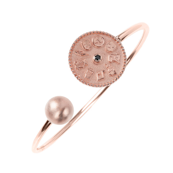9 Muses Cuff <br> Pink Gold Plated