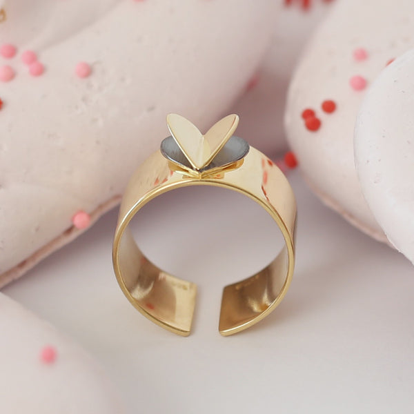 HEART Air Balloon Ring <br> Gold Plated
