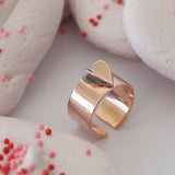 HEART Air Balloon Ring <br> Pink Gold Plated