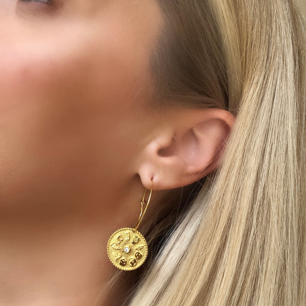 9 Muses Earrings <br>Gold Plated