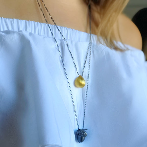 Chestnut Small Necklace <br> Gold Plated