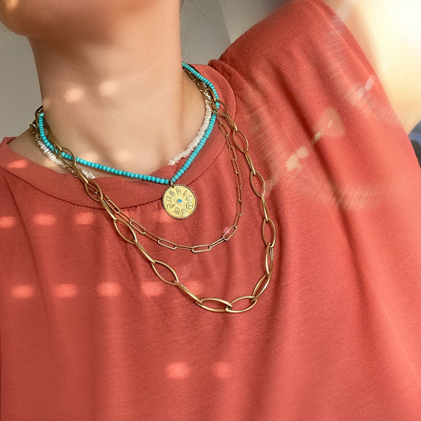 Cyclades Muses Necklace <br>Turquoise Necklace