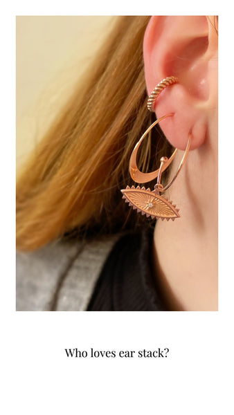 Boho Hoops <br>Pink Gold Plated