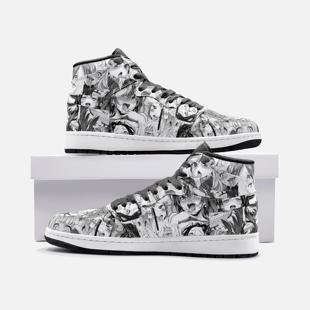Black And White Ahegao Unisex Sneaker
