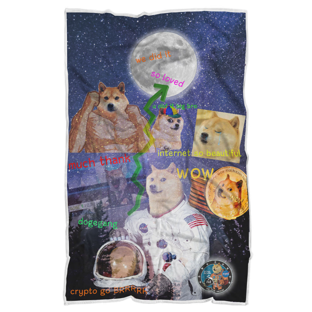 Exclusive Dogecoin All Over Print Sherpa Blanket - LIMITED EDITION!!!!
