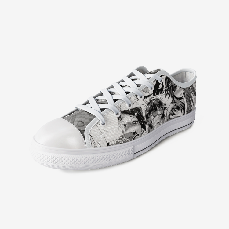 Unisex Ahegao Low Top Canvas Shoes