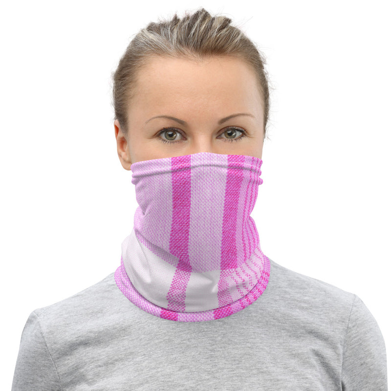 Pink Plaid Neck Gaiter Face Mask