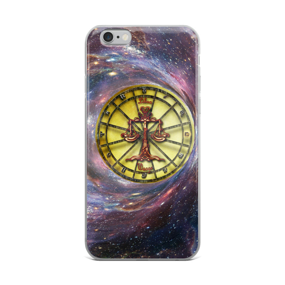 Libra Space Zodiac Wheel iPhone Case