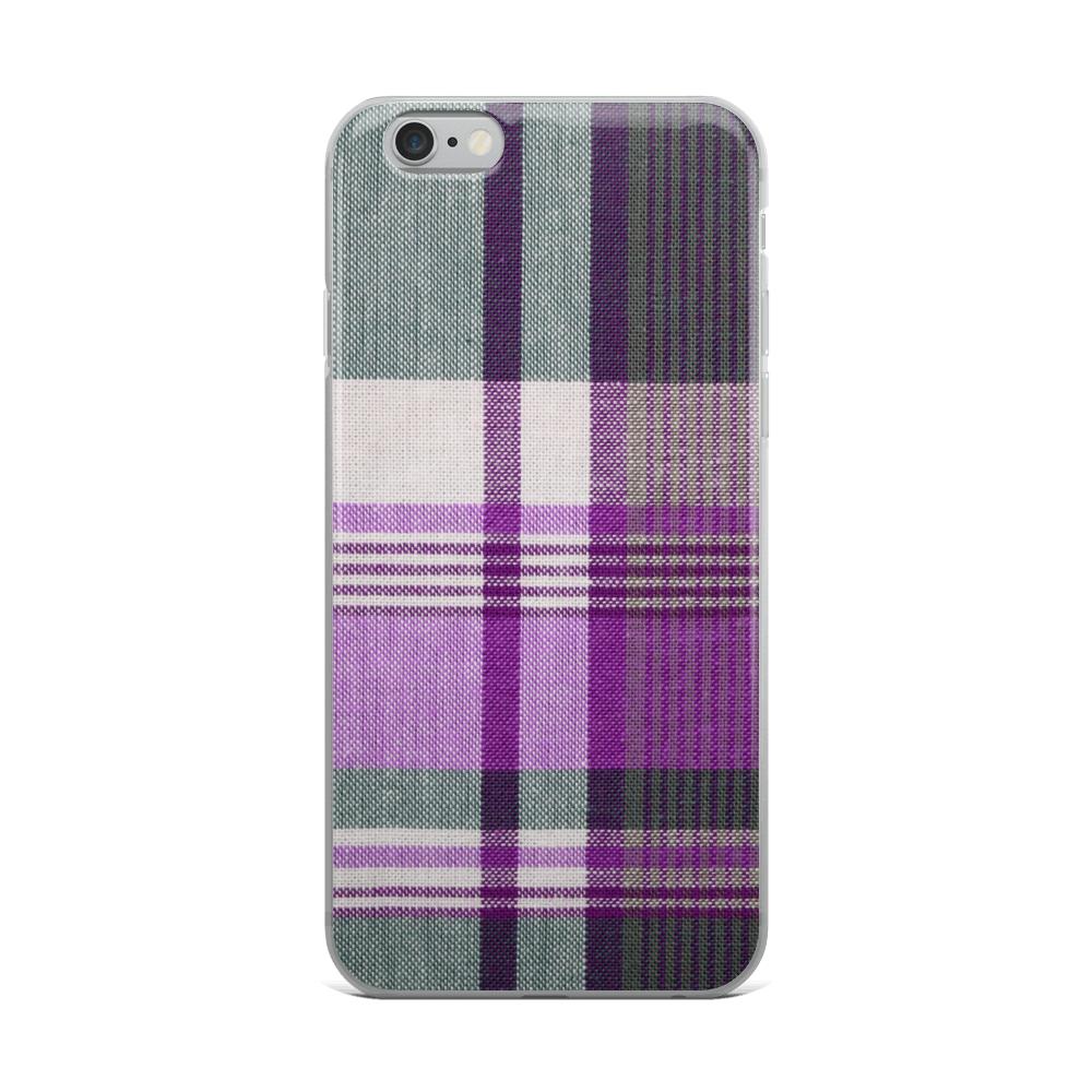 Purple Green Plaid iPhone Case