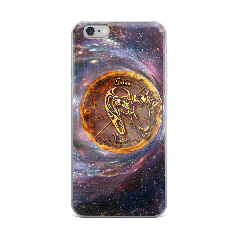 Aries Space Zodiac Wheel iPhone Case
