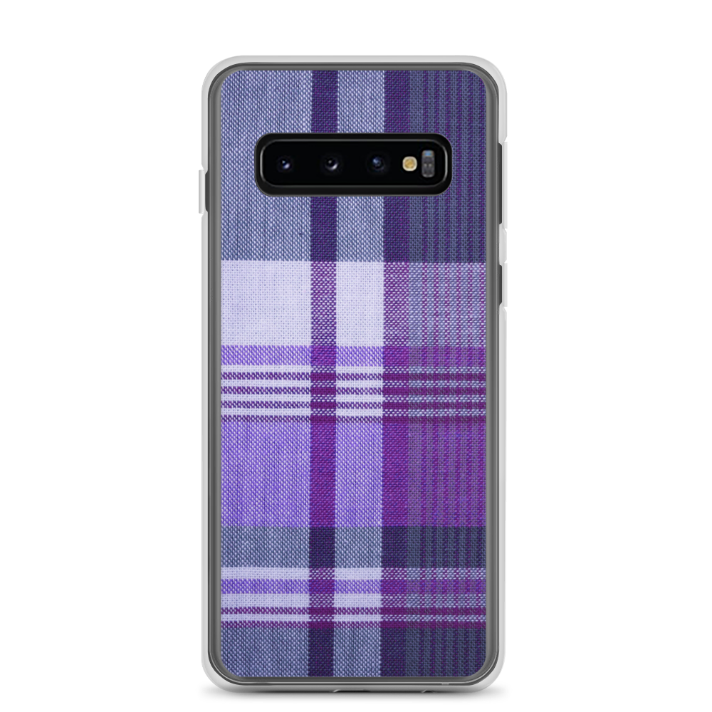 Purple Black Plaid Samsung Case