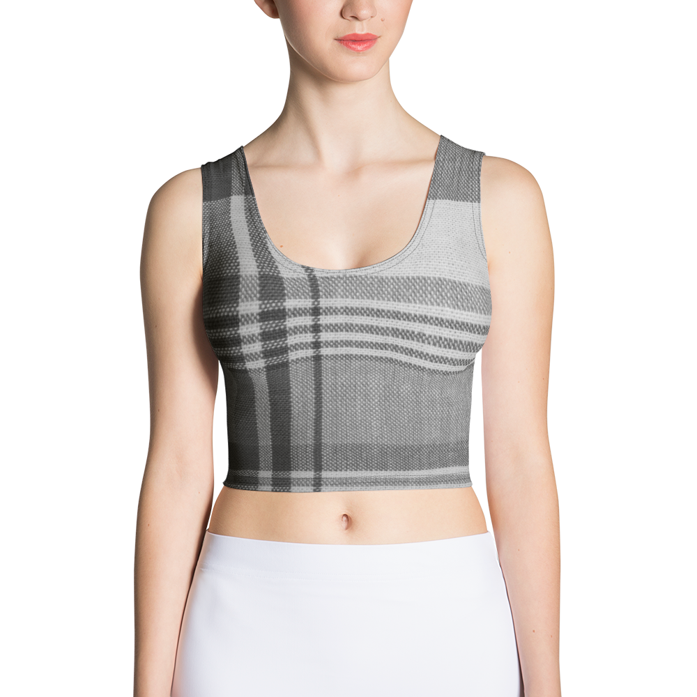 Black and White Plaid Crop Top