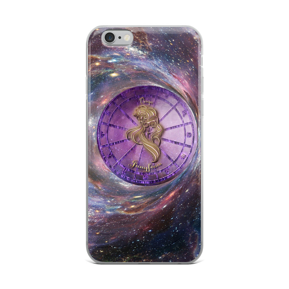 Virgo Space Zodiac Wheel iPhone Case