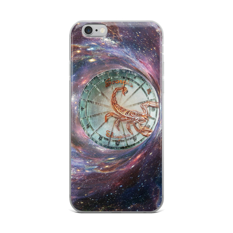 Scorpio Space Zodiac Wheel iPhone Case