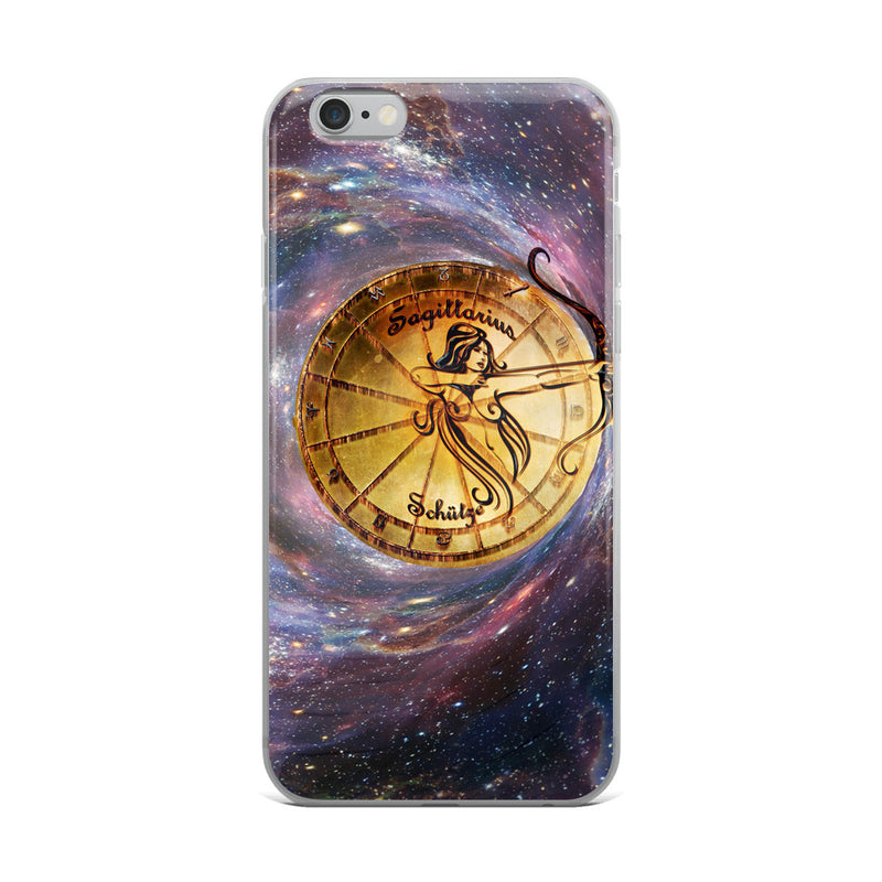 Sagittarius Space Zodiac Wheel iPhone Case