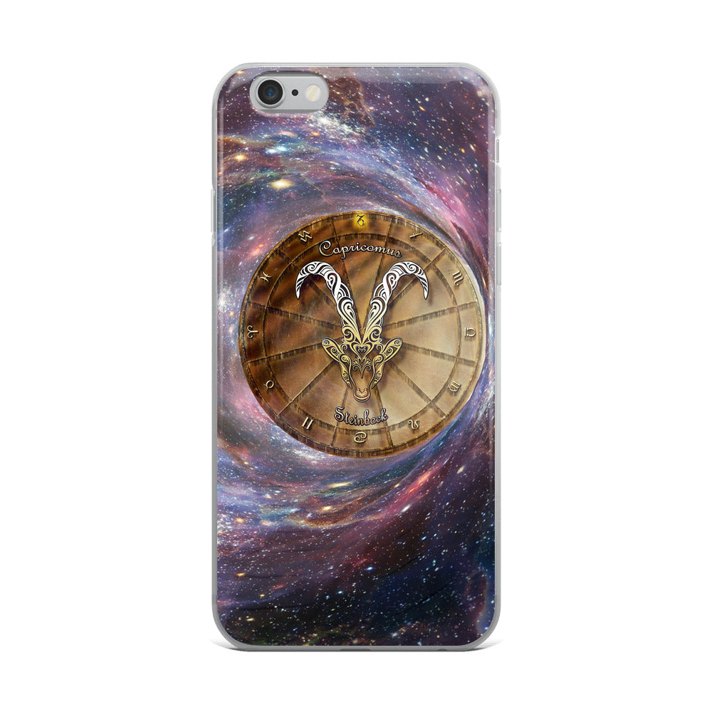 Capricorn Space Zodiac Wheel iPhone Case