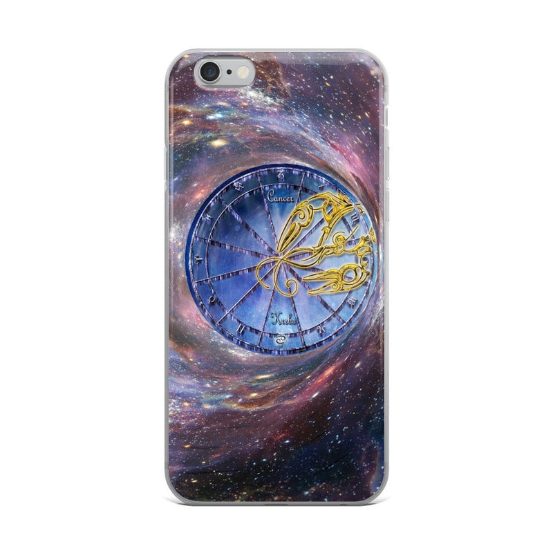 Cancer Space Zodiac Wheel iPhone Case