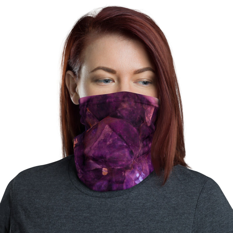 Purple Amethyst Crystal Neck Gaiter Face Mask