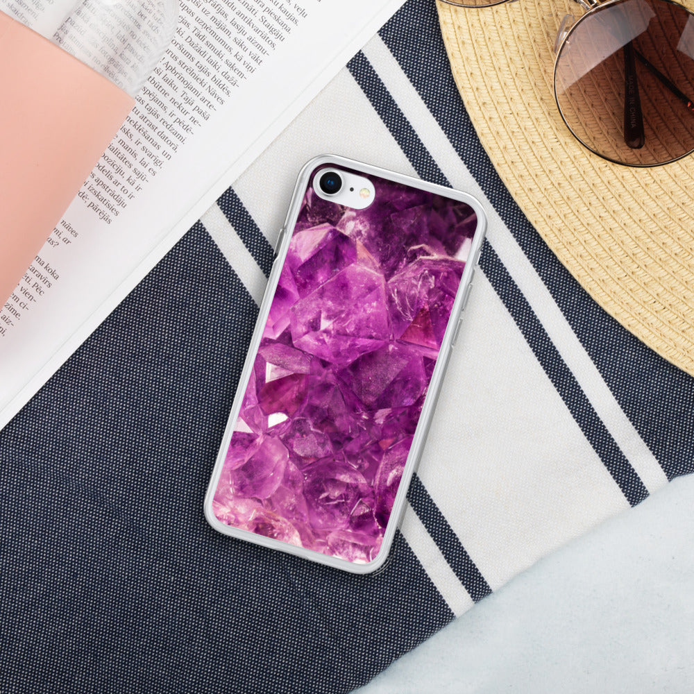 Pink Crystal Liquid Glitter Phone Case