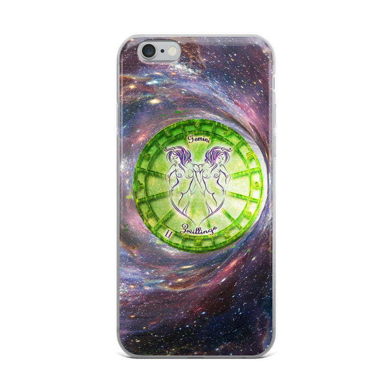 Gemini Space Zodiac Wheel iPhone Case