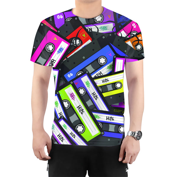Cyber Mixtape All Over Print T-Shirt
