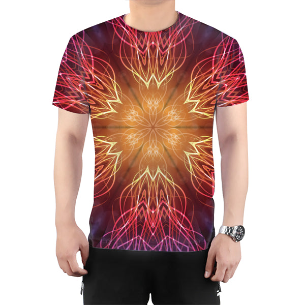Colorful Fractal All Over Print T-Shirt