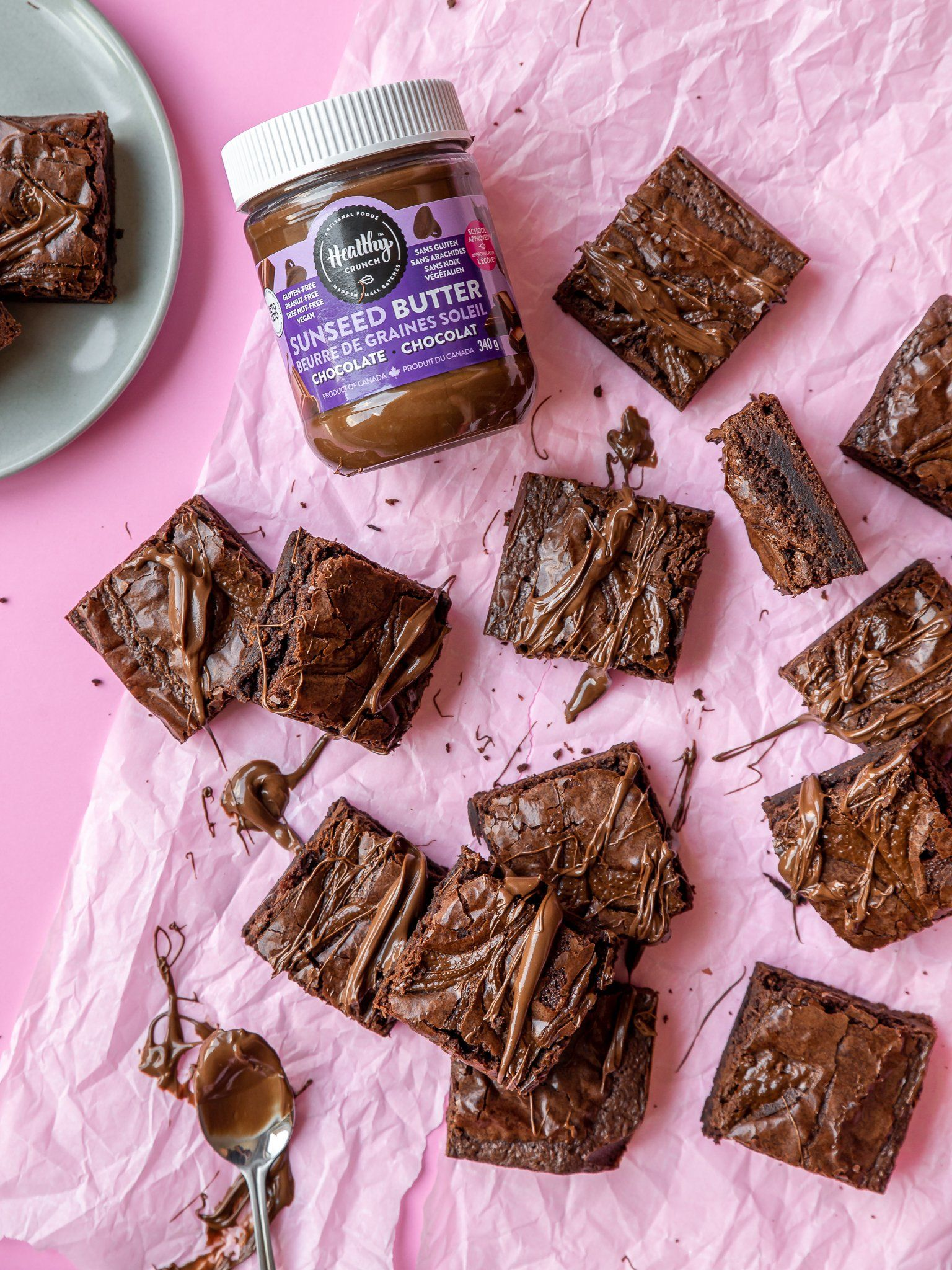 Chocolate Seed Butter Brownies (Gluten-free, Grain-free, Vegan, Allergen-friendly, Dairy-free)