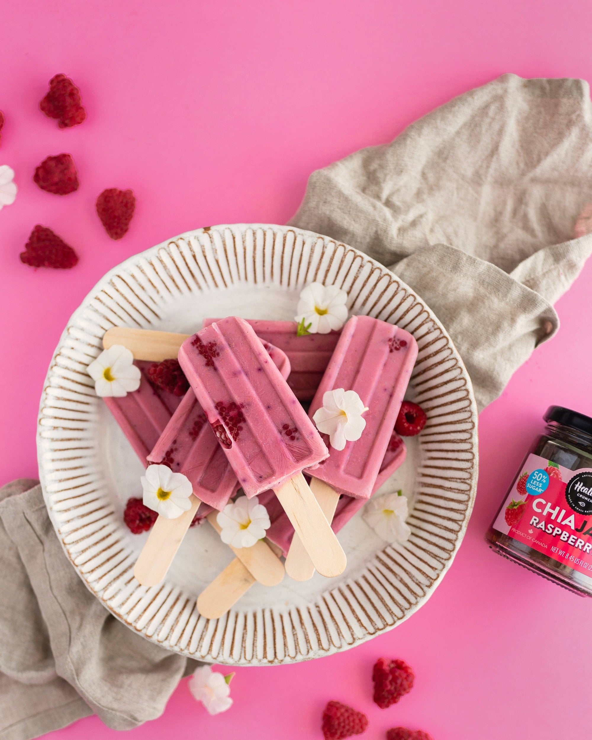 Raspberry Popsicles (Dairy-free)