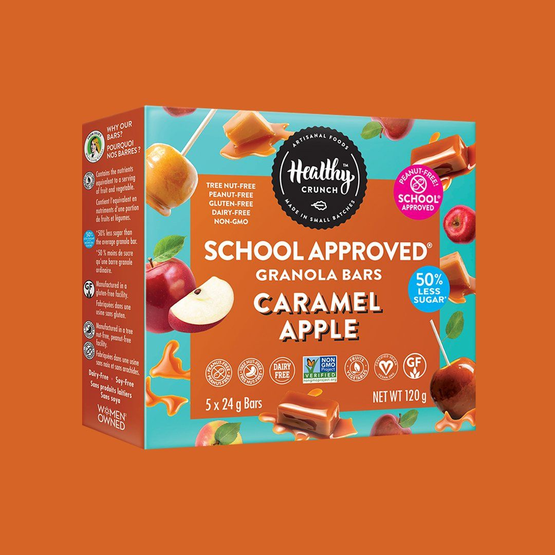 Caramel Apple School Approved Granola Bars