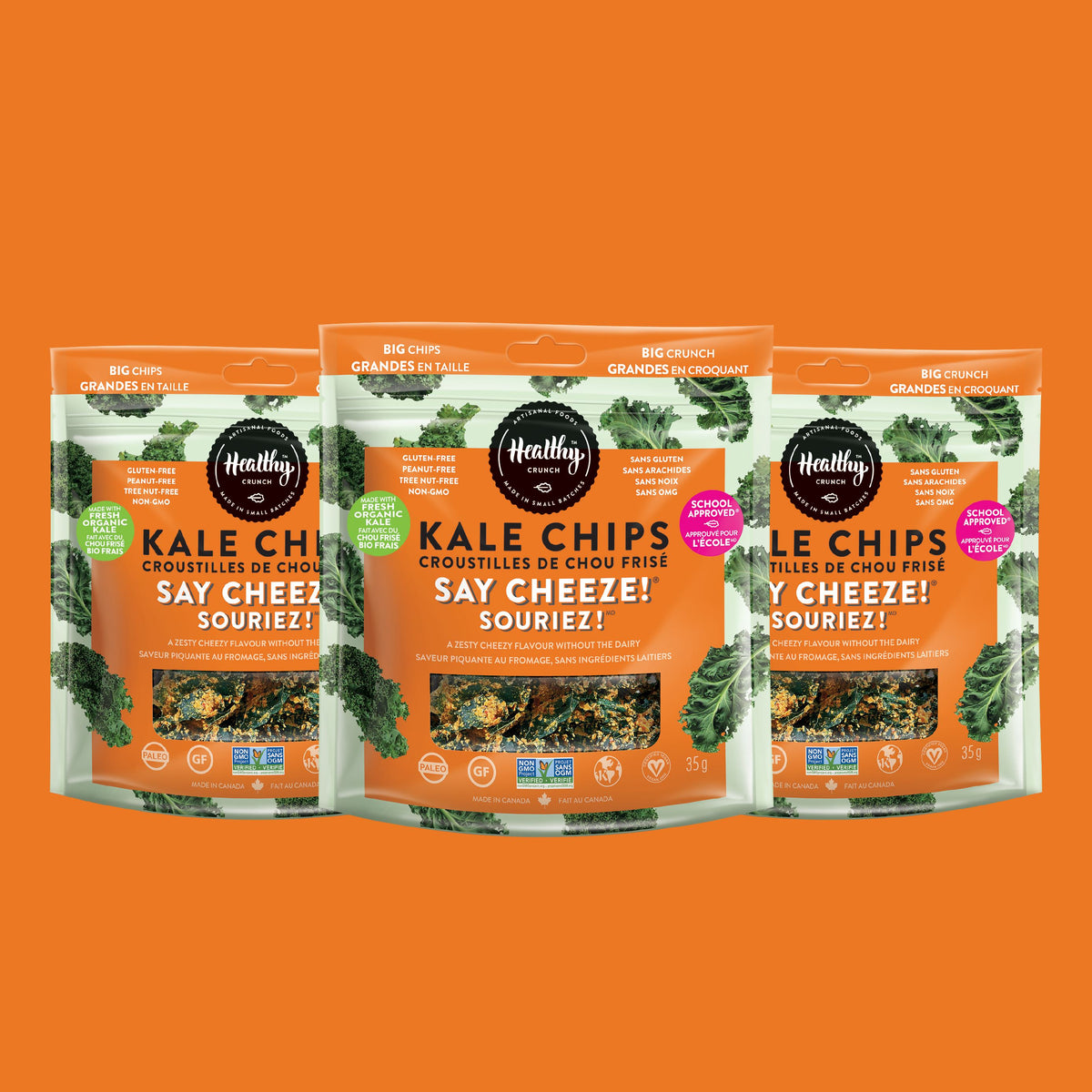 Say Cheeze! Kale Chips