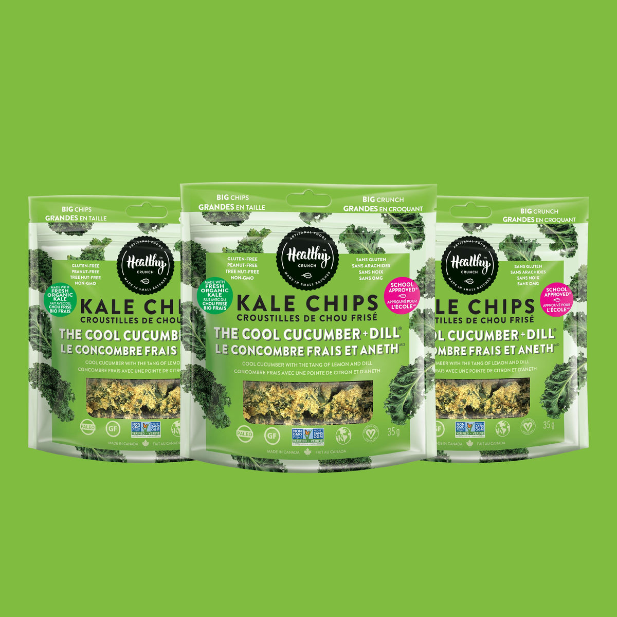 The Cool Cucumber + Dill Kale Chips