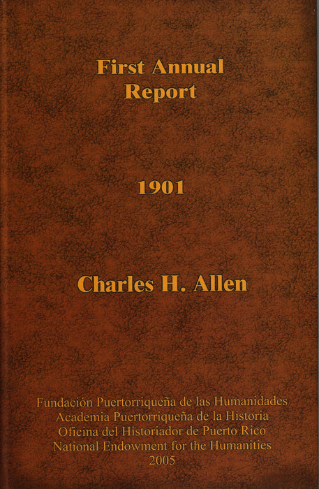First Annual Report 1901