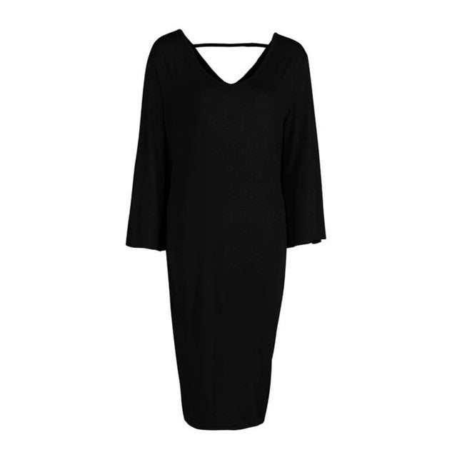 Comfy Casual Midi Dress - The Fashion Bliss By VL Enterprises