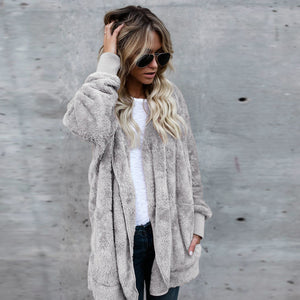 Women Hooded Long Cardigan Coat - The Fashion Bliss By VL Enterprises