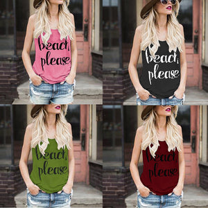 Beach Please Tank Top - The Fashion Bliss By VL Enterprises