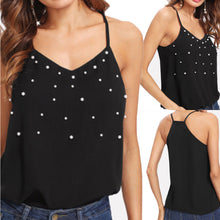 Load image into Gallery viewer, Summer Black Tank Top - The Fashion Bliss By VL Enterprises