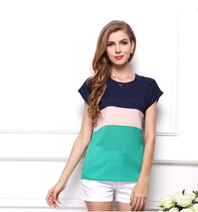 Chiffon Three-color T-Shirt - The Fashion Bliss By VL Enterprises