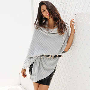 Autumn Knitted Poncho - The Fashion Bliss By VL Enterprises